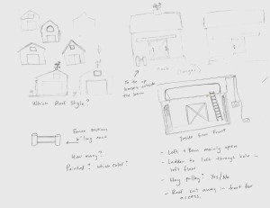 new barn sketches