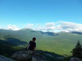 Looking toward Mt. Washington from atop the Imp Face